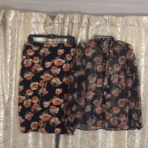 WHO WHAT WEAR SKIRT/BLOUSE